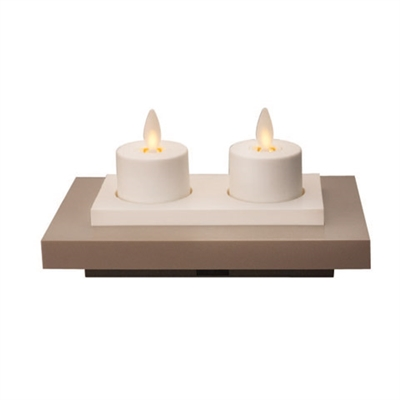 Luminara Set Of 2 Rechargeable Flameless Led Tealights