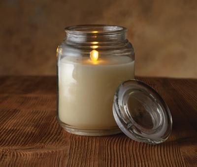 Luminara Flameless Led Candle Glass Mason Jar With Lid