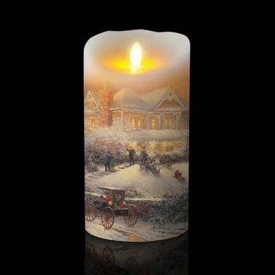 Luminara Thomas Kinkade Series Quot Victorian Christmas Ii