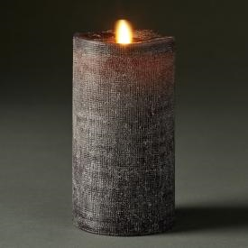LightLi By Liown   Moving Flame   Flameless LED Candle   Linen Charcoal Wax    Bluetooth App Ready   Remote Ready   3.5