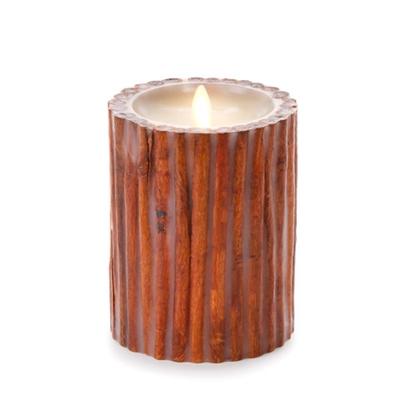 Luminara Flameless Led Candle Embedded Cinnamon Sticks